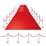 Απεικόνιση κόκκινου χαλιού Διανυσματική απεικόνιση