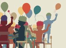 Απεικόνιση κόμματος παιδιών Στοκ Εικόνα