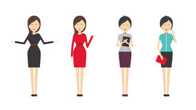 Απεικόνιση κώδικα ντυσίματος γυναικών Στοκ Εικόνες