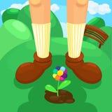 απεικόνιση λουλουδιών χρώματος Στοκ Φωτογραφίες