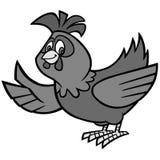 Απεικόνιση μασκότ κοτόπουλου Στοκ εικόνες με δικαίωμα ελεύθερης χρήσης