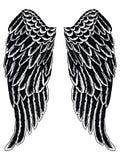 απεικόνιση μαύρη σκιαγραφία φτερών αγγέλου ελεύθερη απεικόνιση δικαιώματος