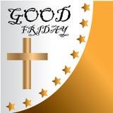 Απεικόνιση Μεγάλων Παρασκευών για τη χριστιανική θρησκευτική περίπτωση με το σταυρό Μπορέστε να χρησιμοποιηθείτε για το υπόβαθρο, ελεύθερη απεικόνιση δικαιώματος