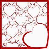 Απεικόνιση με ένα σχέδιο των καρδιών Στοκ Φωτογραφία