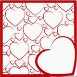 Απεικόνιση με ένα σχέδιο των καρδιών Στοκ φωτογραφία με δικαίωμα ελεύθερης χρήσης