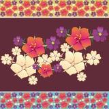 Απεικόνιση με τα λουλούδια Στοκ εικόνα με δικαίωμα ελεύθερης χρήσης