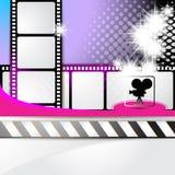 Απεικόνιση με τα πλαίσια ταινιών Στοκ εικόνα με δικαίωμα ελεύθερης χρήσης