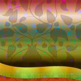 Απεικόνιση υποβάθρου με τα φύλλα Στοκ Φωτογραφίες