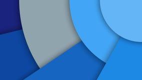 Απεικόνιση με το αφηρημένο υπόβαθρο με τις διαφορετικούς επιφάνειες επιπέδων και τους κύκλους, υλικό σχέδιο απεικόνιση αποθεμάτων