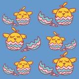 Απεικόνιση με το κοτόπουλο κινούμενων σχεδίων Στοκ εικόνα με δικαίωμα ελεύθερης χρήσης