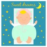 Απεικόνιση με το χαριτωμένο μωρό ύπνου Στοκ φωτογραφία με δικαίωμα ελεύθερης χρήσης