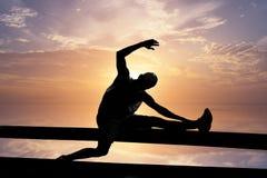 Απεικόνιση μιας άσκησης ατόμων Στοκ εικόνες με δικαίωμα ελεύθερης χρήσης