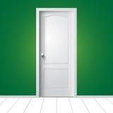 Απεικόνιση μιας άσπρης πόρτας Στοκ Εικόνα