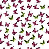 Απεικόνιση μιας ζωηρόχρωμης πεταλούδας Στοκ Εικόνα