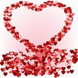 Απεικόνιση μιας καρδιάς των μικρών καρδιών Στοκ Φωτογραφία