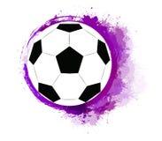 Απεικόνιση μιας σφαίρας ποδοσφαίρου με τους παφλασμούς watercolor Παγκόσμιο Κύπελλο ποδοσφαίρου ελεύθερη απεικόνιση δικαιώματος