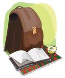 Απεικόνιση μιας σχολικής τσάντας Απεικόνιση αποθεμάτων