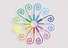Απεικόνιση μολυβιών χρώματος Στοκ Εικόνες