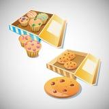 Απεικόνιση μπισκότων τσιπ Chocco Ελεύθερη απεικόνιση δικαιώματος
