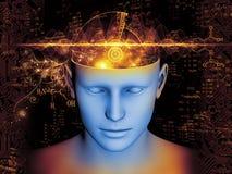 Απεικόνιση μυαλού Στοκ Εικόνα
