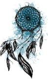 Απεικόνιση μόδας με catcher και τα λουλούδια ονείρου Συρμένο χέρι σχέδιο διανυσματική απεικόνιση