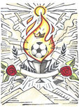 Απεικόνιση νίκης φλυτζανιών ποδοσφαίρου Στοκ φωτογραφία με δικαίωμα ελεύθερης χρήσης