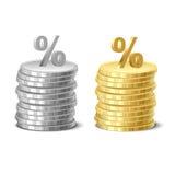 Απεικόνιση νομισμάτων και χρημάτων Διανυσματική απεικόνιση