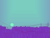 Απεικόνιση - ο ήλιος βραδιού. Στοκ φωτογραφίες με δικαίωμα ελεύθερης χρήσης