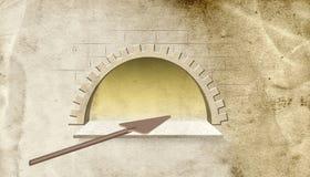 Απεικόνιση  Πέτρινο αρτοποιείο φούρνων Στοκ φωτογραφία με δικαίωμα ελεύθερης χρήσης