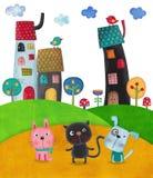 απεικόνιση παιδιών Στοκ εικόνα με δικαίωμα ελεύθερης χρήσης