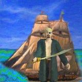 Απεικόνιση πειρατών και σκαφών διανυσματική απεικόνιση