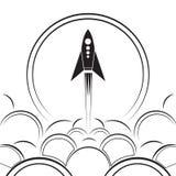 Απεικόνιση περιγράμματος ενός επερχόμενου πυραύλου με τον καπνό απεικόνιση αποθεμάτων