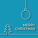 Απεικόνιση περιλήψεων Χριστουγέννων Στοκ εικόνα με δικαίωμα ελεύθερης χρήσης