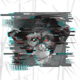 Απεικόνιση πιθήκων Επίδραση δυσλειτουργίας δυσλειτουργία bacground διανυσματική απεικόνιση