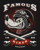 Απεικόνιση ποδηλατών λύκων Στοκ Εικόνα