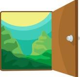 απεικόνιση πορτών ανοικτή Στοκ φωτογραφίες με δικαίωμα ελεύθερης χρήσης