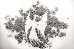 Απεικόνιση πουλιών του Phoenix, αναγέννηση στην τέφρα Στοκ φωτογραφία με δικαίωμα ελεύθερης χρήσης