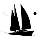 απεικόνιση που πλέει yatch Στοκ εικόνα με δικαίωμα ελεύθερης χρήσης