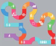 Απεικόνιση προγραμματισμού και συνεργασίας Στοκ Εικόνες