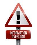 Απεικόνιση προειδοποιητικών σημαδιών υπερφόρτωσης πληροφοριών απεικόνιση αποθεμάτων