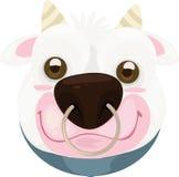 απεικόνιση προσώπου αγελάδων Στοκ Εικόνες