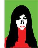 Απεικόνιση προσώπου γυναικών Στοκ εικόνα με δικαίωμα ελεύθερης χρήσης