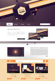 Απεικόνιση προτύπων ιστοχώρου με τα αφηρημένα στοιχεία Στοκ Φωτογραφίες