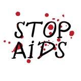Απεικόνιση πρώτος της Παγκόσμιας Ημέρας κατά του AIDS Δεκεμβρίου Στοκ Εικόνες