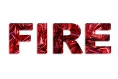 Απεικόνιση πυρκαγιάς λέξης διανυσματική απεικόνιση