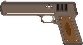 Απεικόνιση πυροβόλων όπλων πιστολιών διανυσματική απεικόνιση
