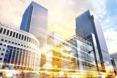 Απεικόνιση πόλεων με τους φωτεινούς σηματοδότες, Λονδίνο Στοκ εικόνα με δικαίωμα ελεύθερης χρήσης