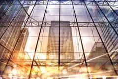 Απεικόνιση πόλεων με τους φωτεινούς σηματοδότες, Λονδίνο Στοκ φωτογραφία με δικαίωμα ελεύθερης χρήσης