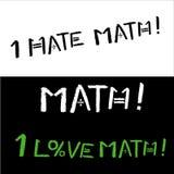 Απεικόνιση σε ένα μαύρο υπόβαθρο στο θέμα του σχολείου και math Διανυσματική απεικόνιση