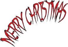 Απεικόνιση σημαδιών κειμένων Χαρούμενα Χριστούγεννας που γράφεται στα αγγλικά Στοκ Εικόνα